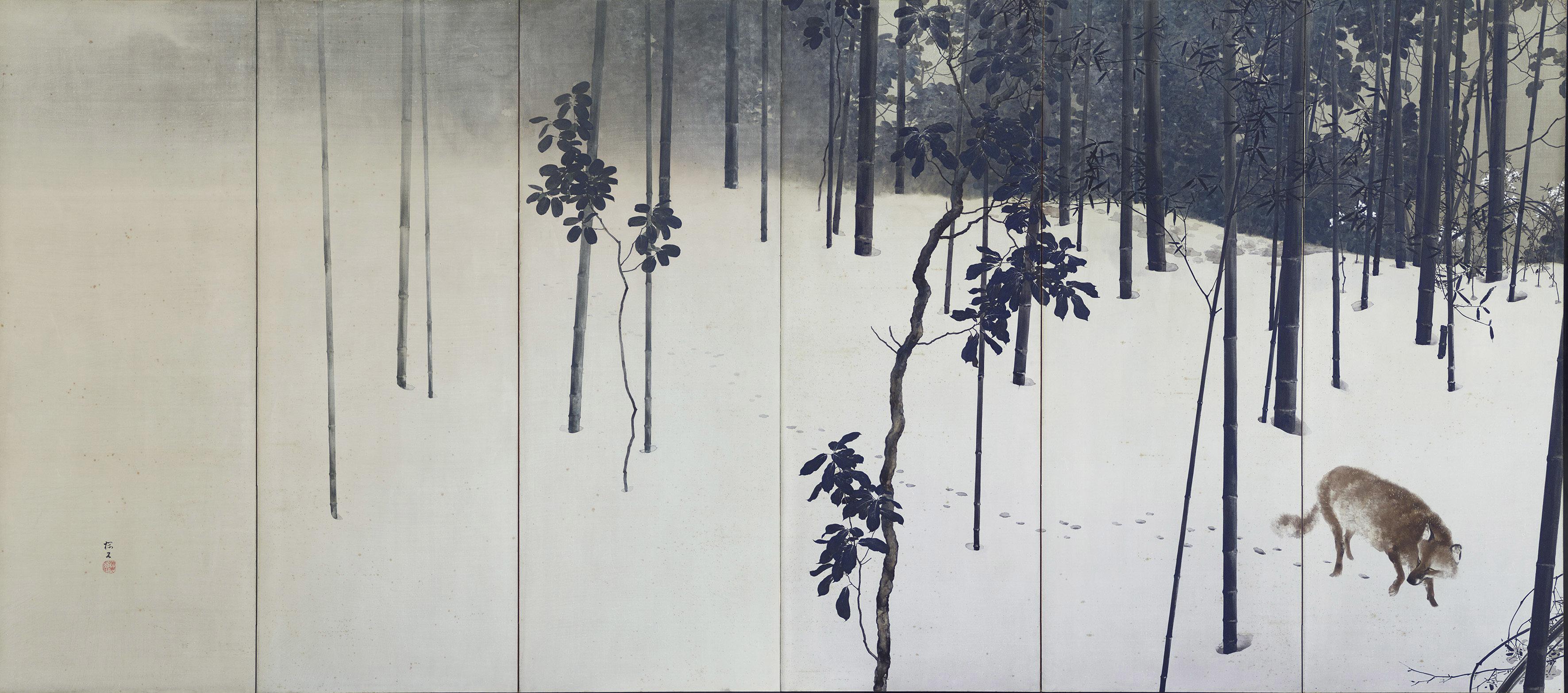 《寒月》左隻 大正元年(1912) 京都市美術館蔵