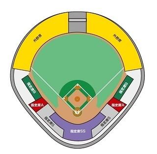石川県立野球場のシートマップ