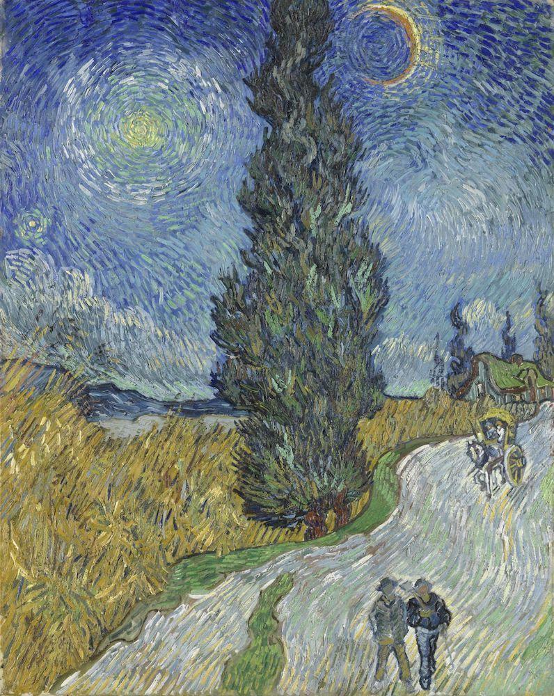フィンセント・ファン・ゴッホ《夜のプロヴァンスの田舎道》1890年5月12-15日頃 油彩、カンヴァス 90.6×72cm クレラー=ミュラー美術館蔵  (C)Kröller-Müller Museum, Otterlo, the Netherlands