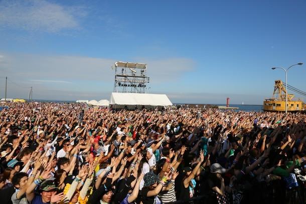 「OGA NAMAHAGE ROCK FESTIVAL」の様子。