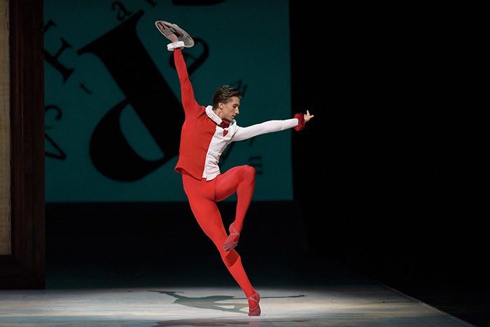 Alice's Adventures in Wonderland. Vadim Muntagirov as The Knave of Hearts. ©ROH, 2014. Photographed by Bill Cooper