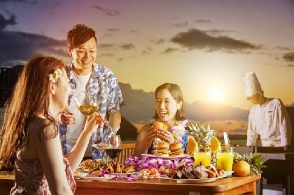 夕日を眺めながら屋上ガーデンで楽しむリゾート感覚ビアガーデン『ベイサイドBBQ ~ハワイアン ビアガーデン~』