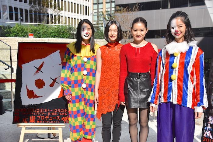 岡田帆乃佳、湯川玲菜、仲美海、前田悠雅(左から)