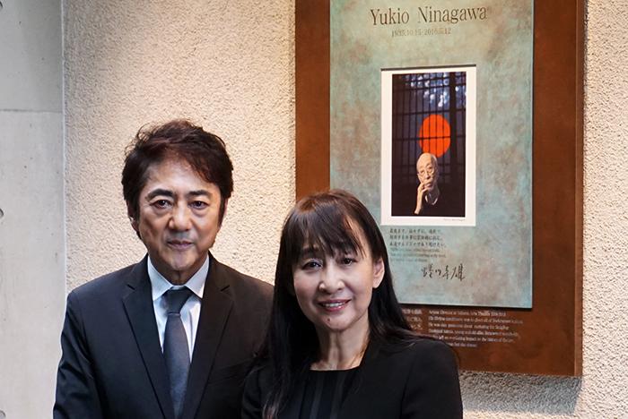 (左から)市村正親・蜷川宏子