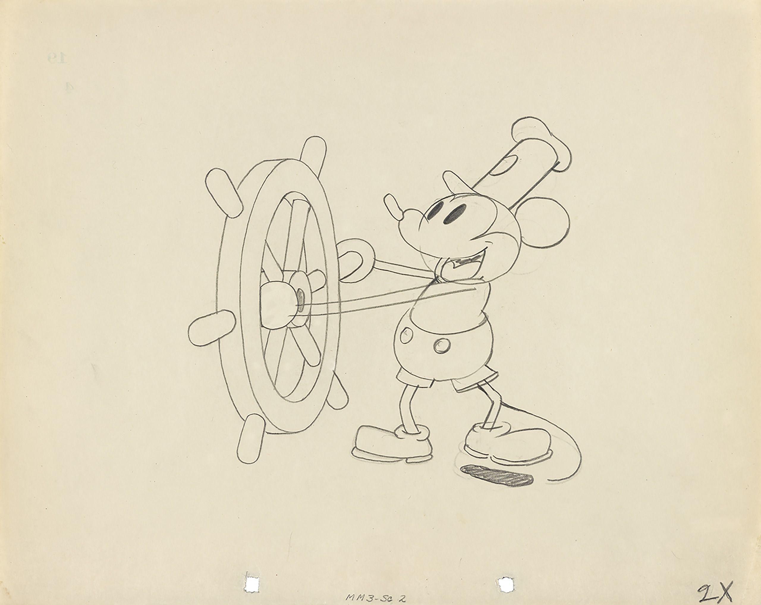 蒸気船ウィリーより 1928年 (C)Disney Enterprises, Inc.