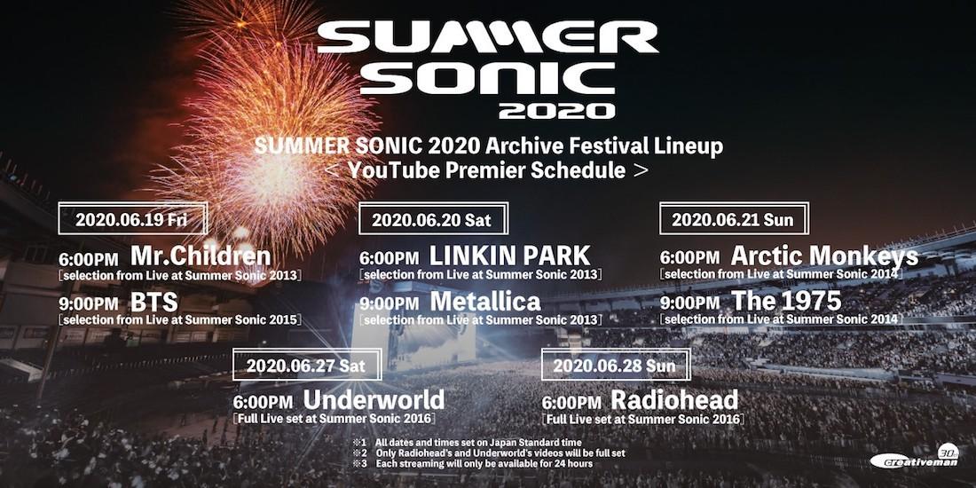 SUMMER SONIC 2020 Archive Festival