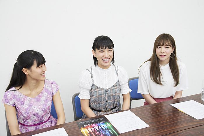 (左から)夢宮加菜枝、古賀なつき、河西智美