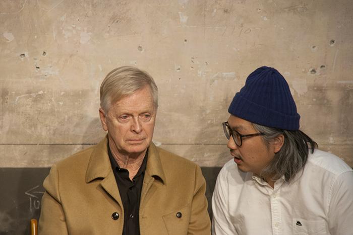 (左から)ロン・バラス氏、岩上紘一郎氏