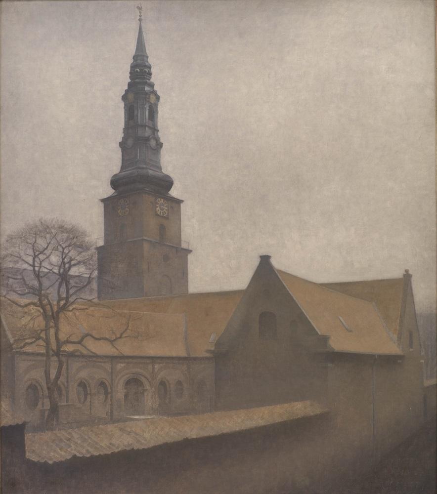 ヴィルヘルム・ハマスホイ 《聖ペテロ聖堂》 1906年 デンマーク国立美術館蔵 SMK, The National Gallery of Denmark SMK Photo/Jakob Skou-Hansen