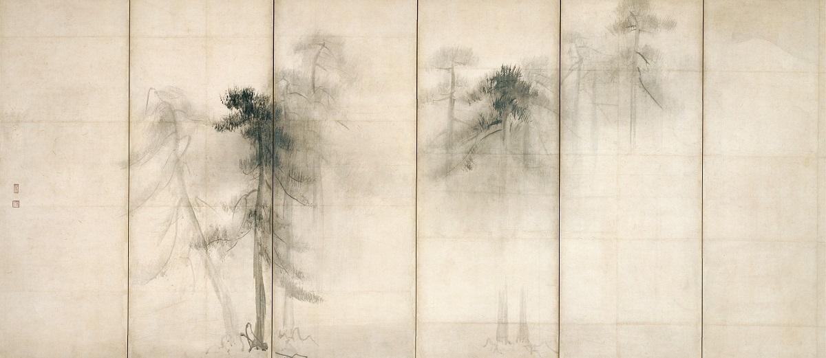 国宝 松林図屏風(左隻)   長谷川等伯筆 東京国立博物館 桃山時代・16世紀