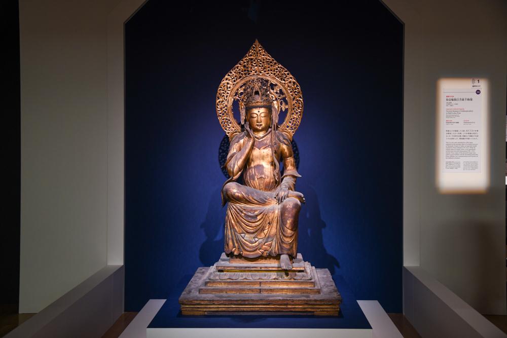 《如意輪観音菩薩半跏像》 平安時代(11〜12世紀) 奈良・法隆寺蔵