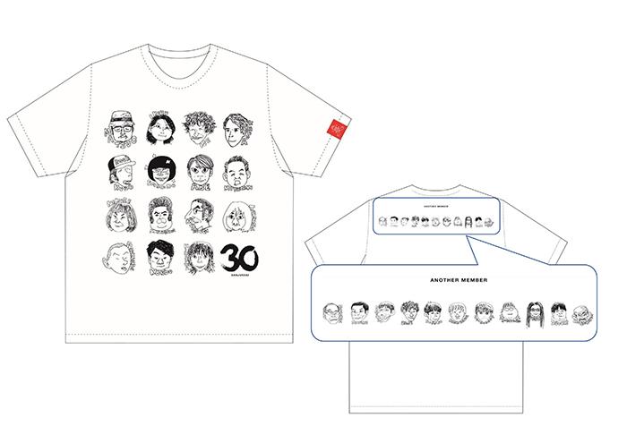 似顔絵Tシャツ<白/黒>