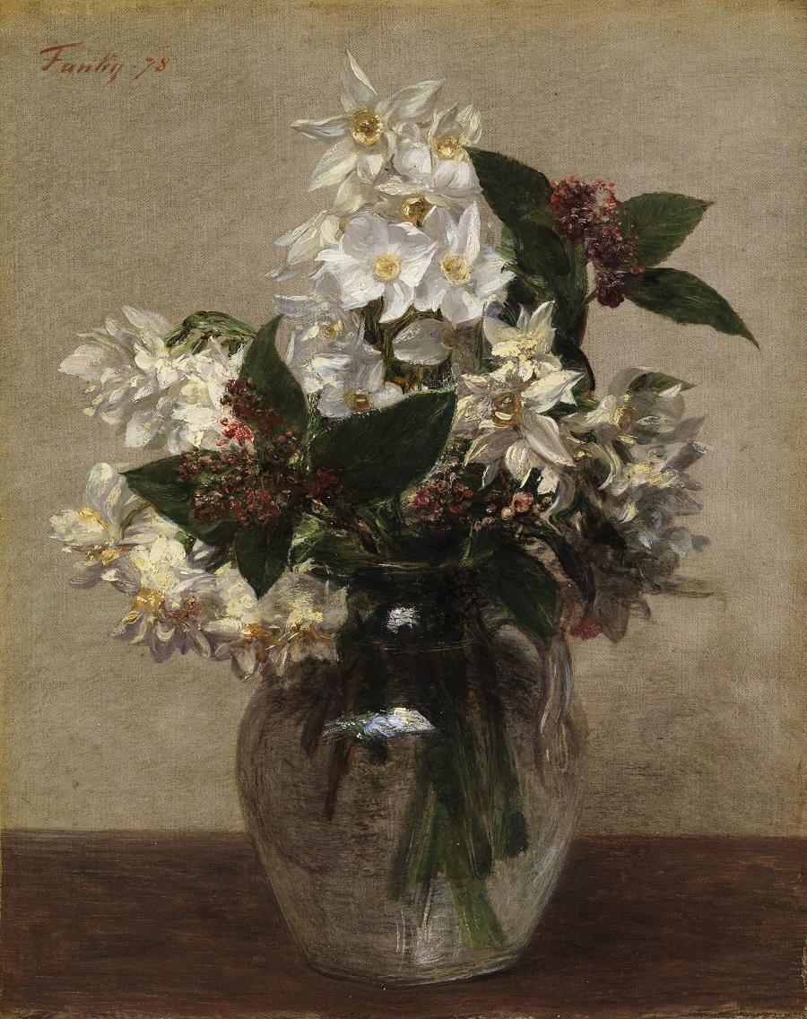 アンリ・ファンタン=ラトゥール《春の花》 1878年、油彩・カンヴァス (C) CSG CIC Glasgow Museums Collection
