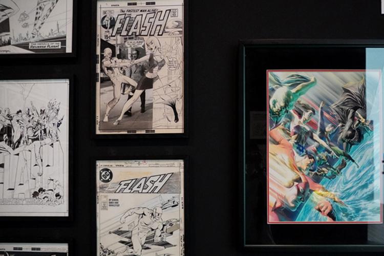 ジャスティス・リーグエリア展示風景 DC SUPER HEROES and all related characters and elements (C) & TM DC Comics. WB SHIELD: (C) & TM WBEI. (s21)