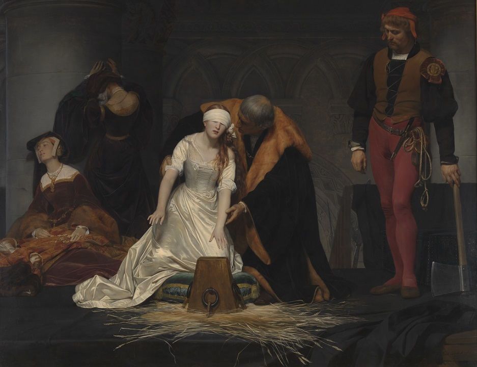 ポール・ドラローシュ《レディ・ジェーン・グレイの処刑》1833年 油彩・カンヴァス ロンドン・ナショナル・ギャラリー蔵