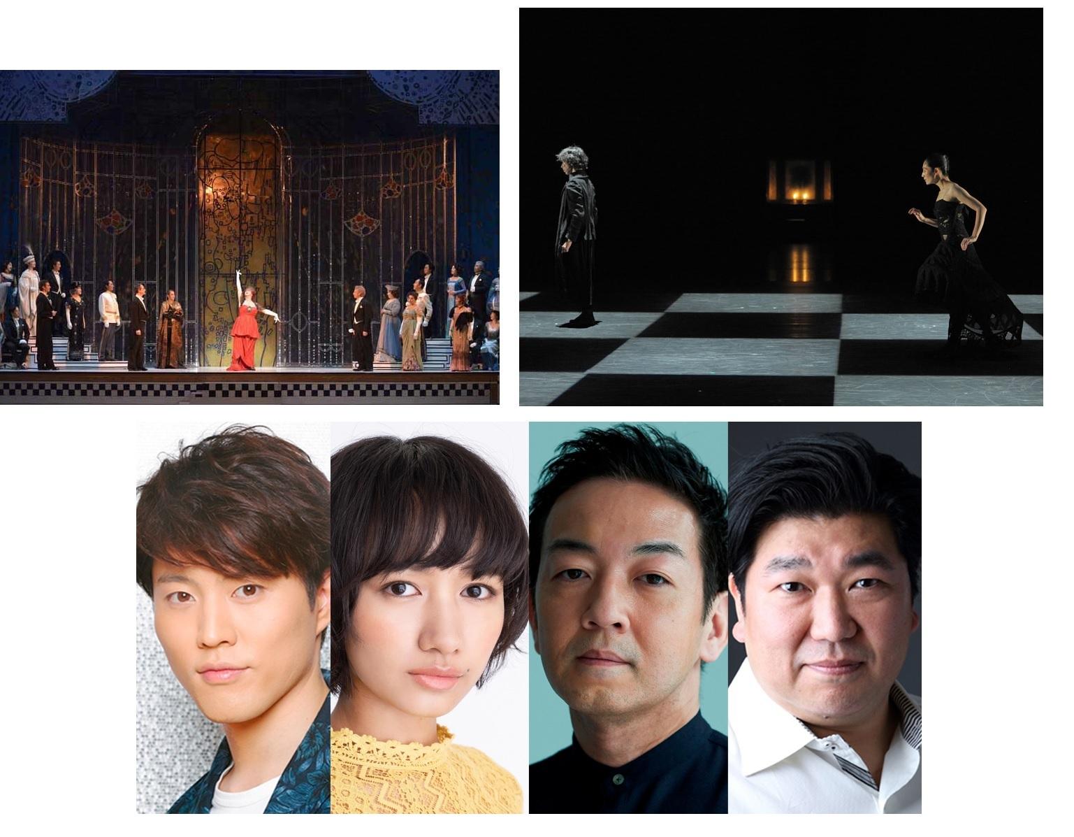 (上段左から)オペラ『こうもり』、ダンス『Shakespeare THE SONNETS』、(下段)演劇『ピーター&ザ・スターキャッチャー』