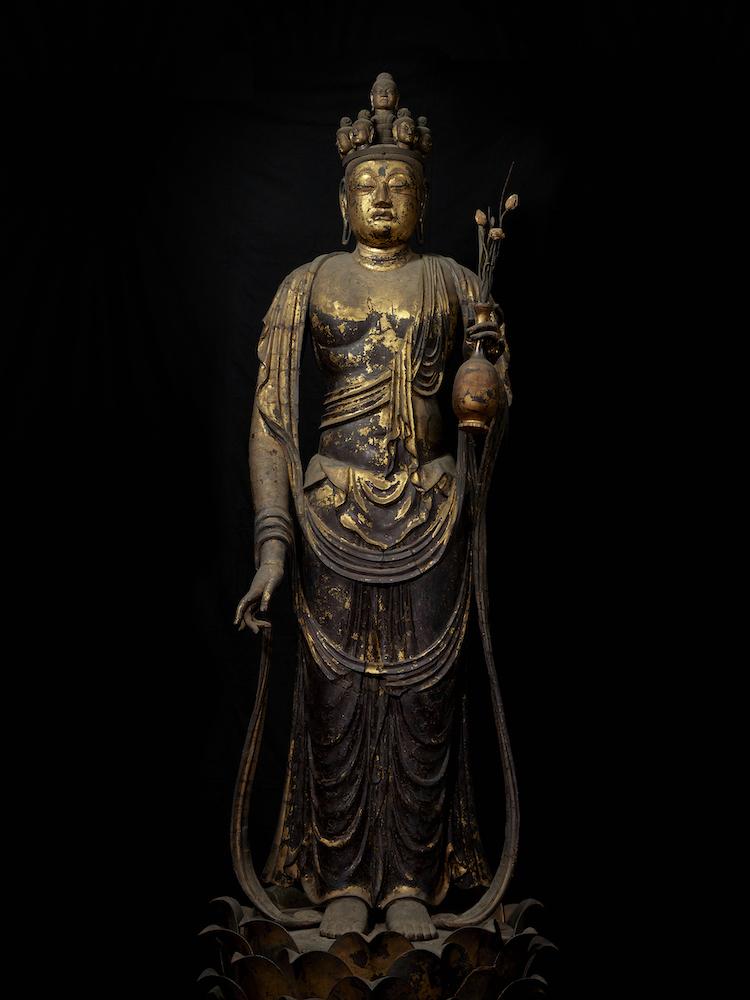 国宝 十一面観音菩薩立像 奈良時代・8世紀 奈良・聖林寺蔵