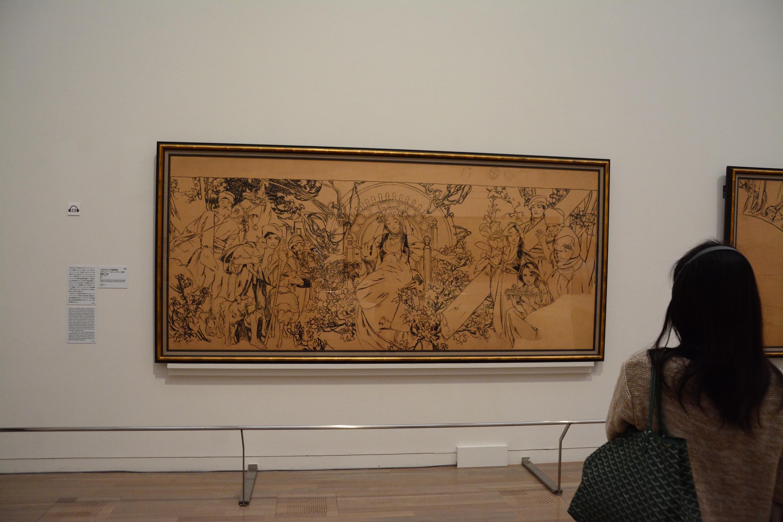 《1900年パリ万国博覧会 ボスニア・ヘルツェゴヴィナ館壁画の下絵》 1899-1900年 墨/紙 137.3×312.2cm 堺市