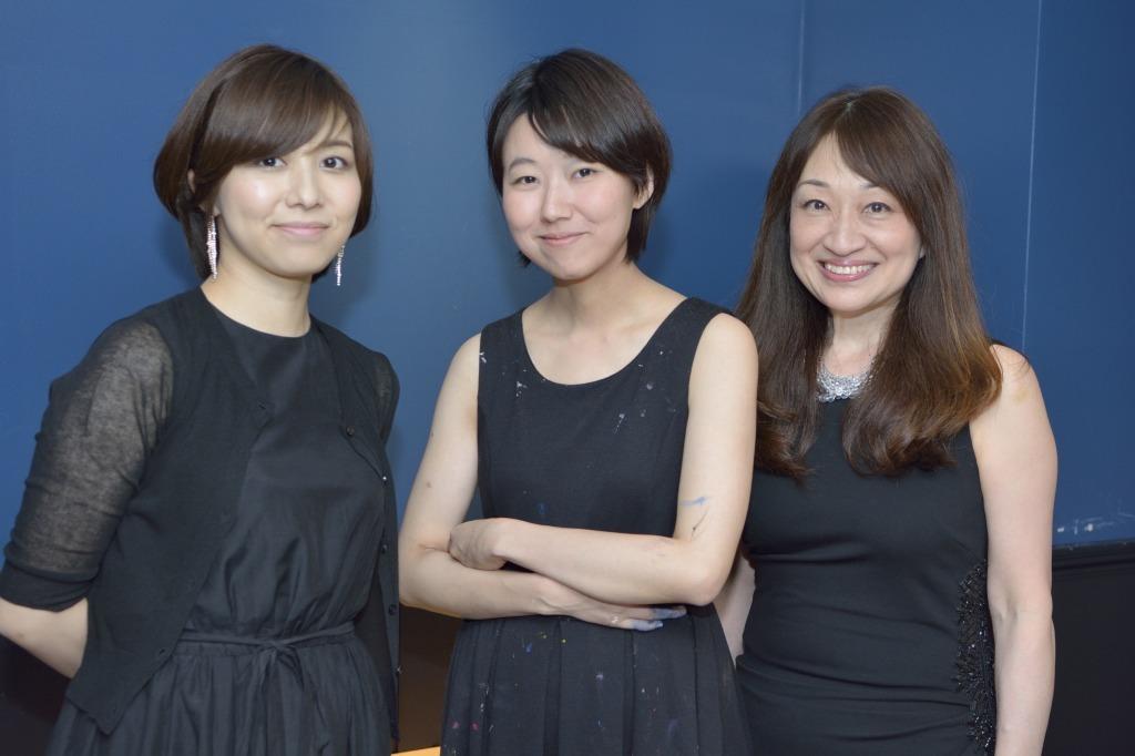 松田理奈(ヴァイオリン)、中山晃子(現代アート)、小森谷 裕子(ピアノ)
