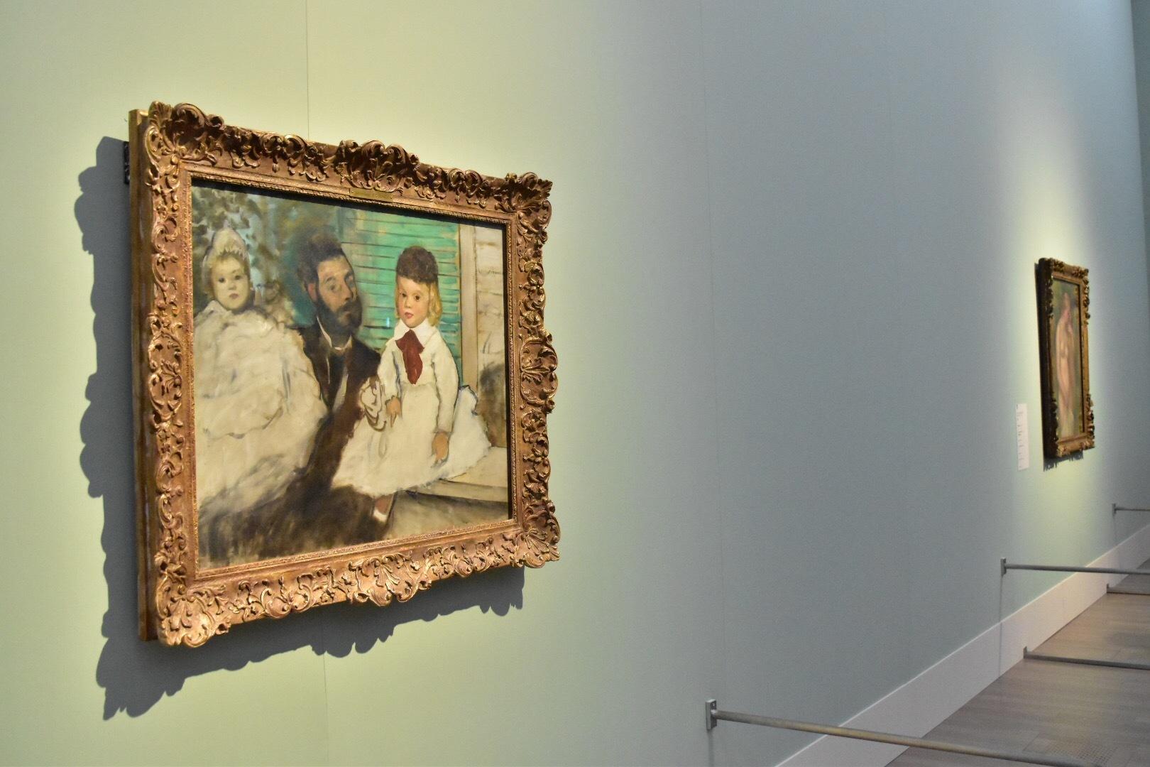 エドガー・ドガ 《リュドヴィック・ルピック伯爵とその娘たち》 1871年頃