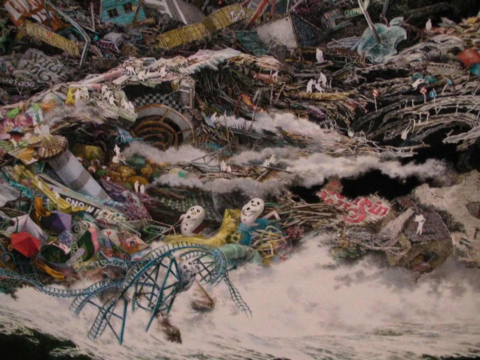 《誕生》 (部分) 2013-2016 / 紙にペン、インク、透明水彩 / 300 × 400 cm 佐賀県立美術館蔵 ©IKEDA Manabu, Courtesy Mizuma Art Gallery, Tokyo / Singapore