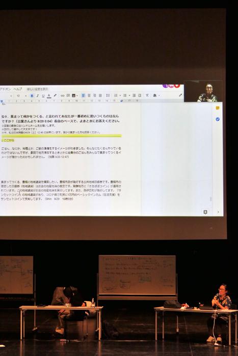 加藤仲葉企画「Googleドキュメントに集まって考える」報告会