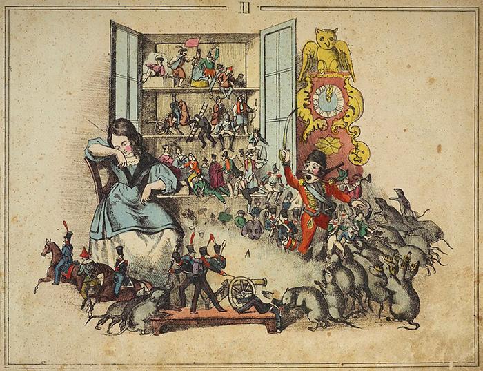 ぺーター・カール・ガイスラーによるE.T.A.ホフマン『くるみ割り人形とねずみの王様』挿絵