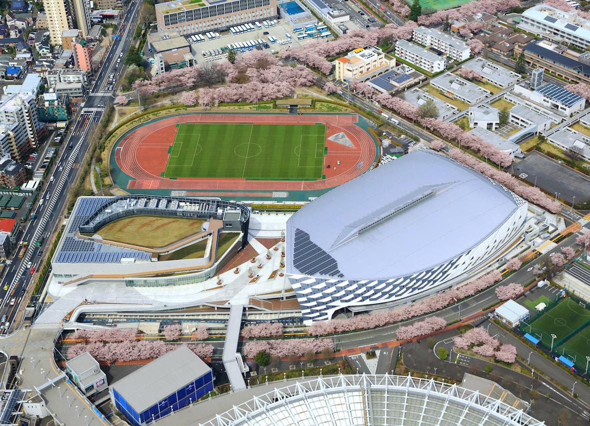 武蔵野の森総合スポーツプラザ メインアリーナ 外観写真(写真提供:東京都)