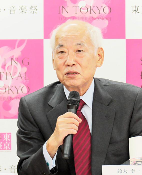 鈴木幸一(東京・春・音楽祭実行委員会 実行委員長) (c) Naoko Nagasawa