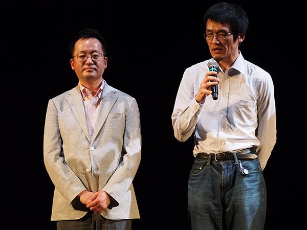 左から稲見昌彦氏、福地健太郎氏