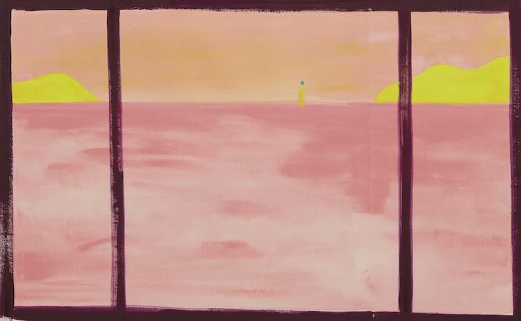 瀬戸内の海、夕方5時32分    sea of setouchi, pm 5:32 2019 acrylic on canvas 59.0 x 94.5 cm (C)Ellie Omiya