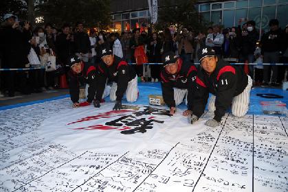 海浜幕張駅にマリーンズの人気選手が登場! 3/18はホームタウン壮行会
