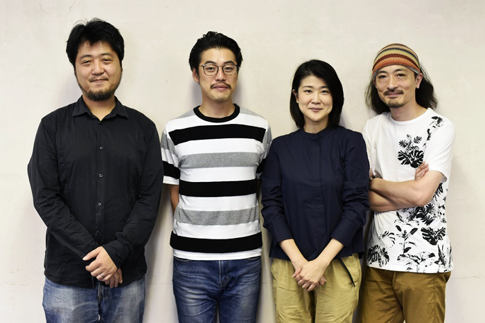 (左から)古川健、西尾友樹、松本紀保、日澤雄介
