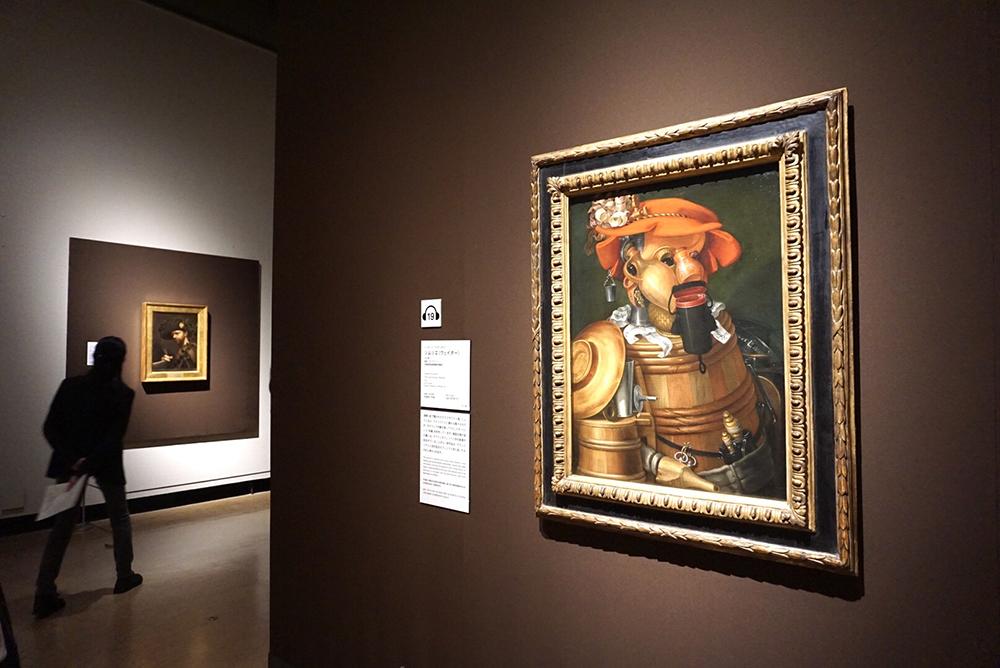 ジュゼッペ・アルチンボルド《ソムリエ(ウェイター)》 1574年 油彩/カンヴァス 大阪新美術館建設準備室蔵