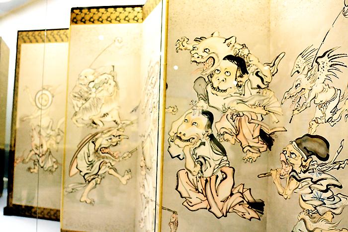 河鍋暁斎 《百鬼夜行図屏風》明治4-22(1871-89)年 紙本着彩 イスラエル・ゴールドマン コレクション Israel Goldman Collection, London