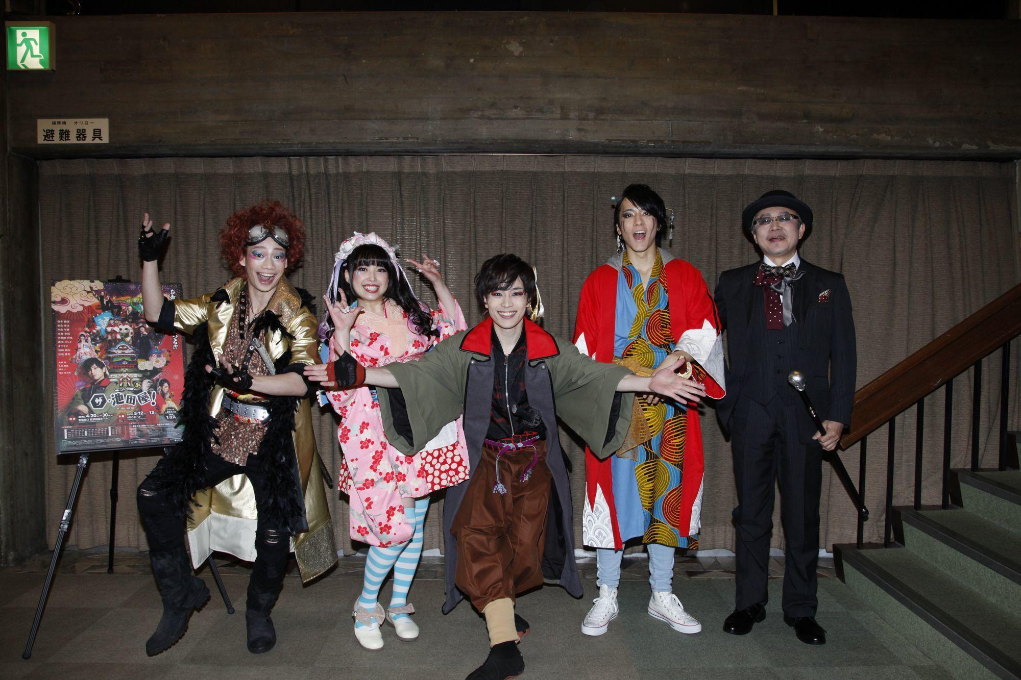 (左から)池田純矢、中島早貴、鈴木勝吾、松島庄汰、松尾貴史