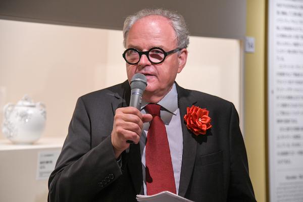 ギャラリートークで解説に立ったリヒテンシュタイン侯爵家コレクション・ディレクターのヨハン・クレフトナー氏