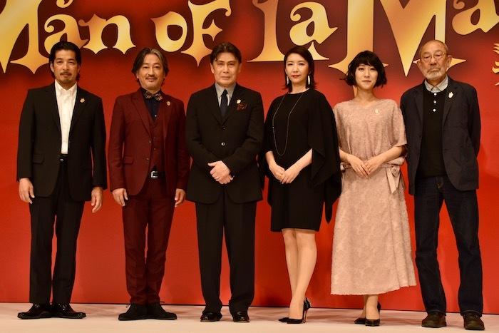 宮川浩、駒田一、松本白鸚、瀬奈じゅん、松原凛子、上條恒彦(左から)