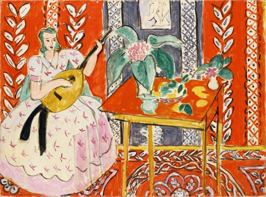 アンリ・マティス《リュート》1943年 ポーラ美術館