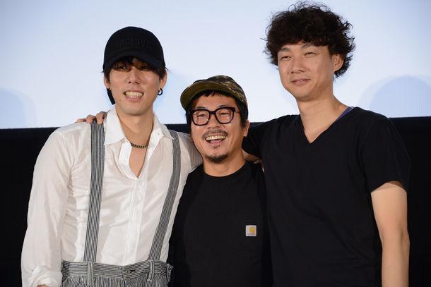 左から野田洋次郎、ヤン・イクチュン、松永大司。