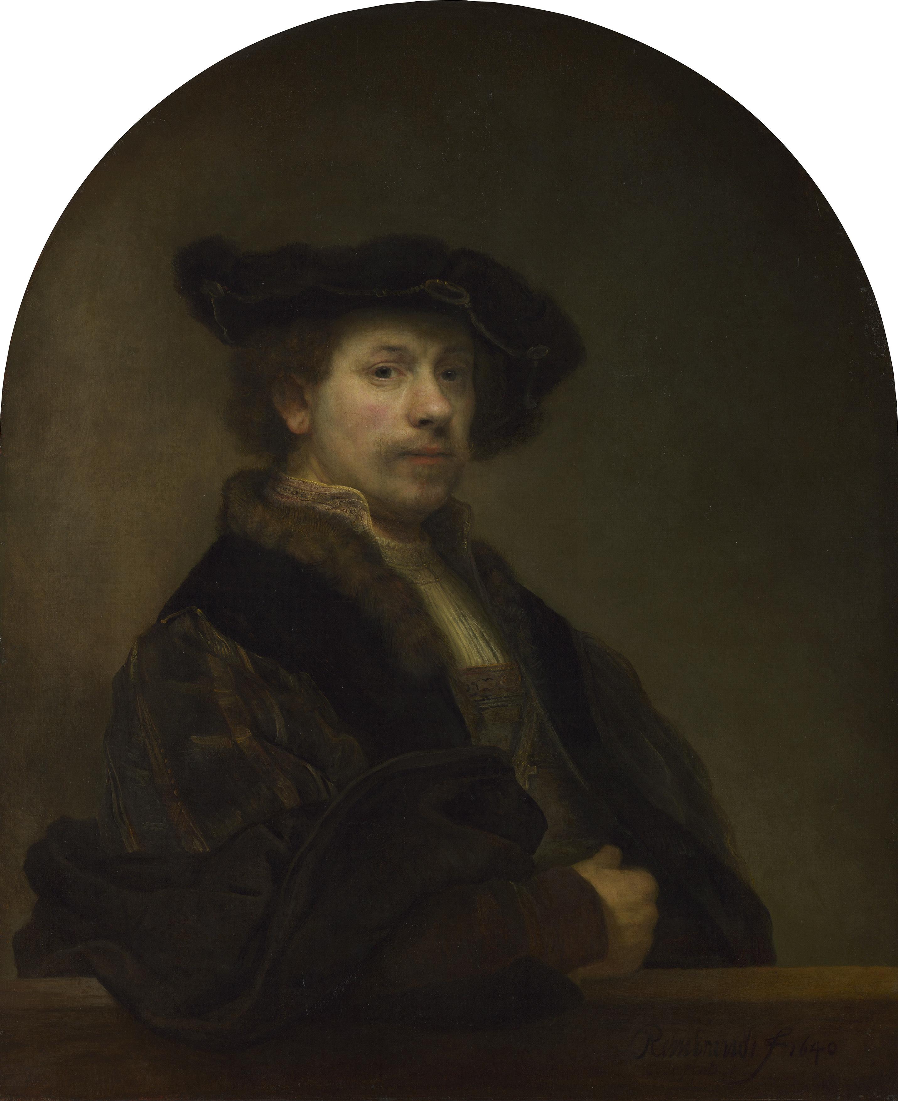 レンブラント・ハルメンスゾーン・ファン・レイン 《34歳の自画像》 1640年 油彩・カンヴァス 91×75cm  (C)The National Gallery, London. Bought, 1861