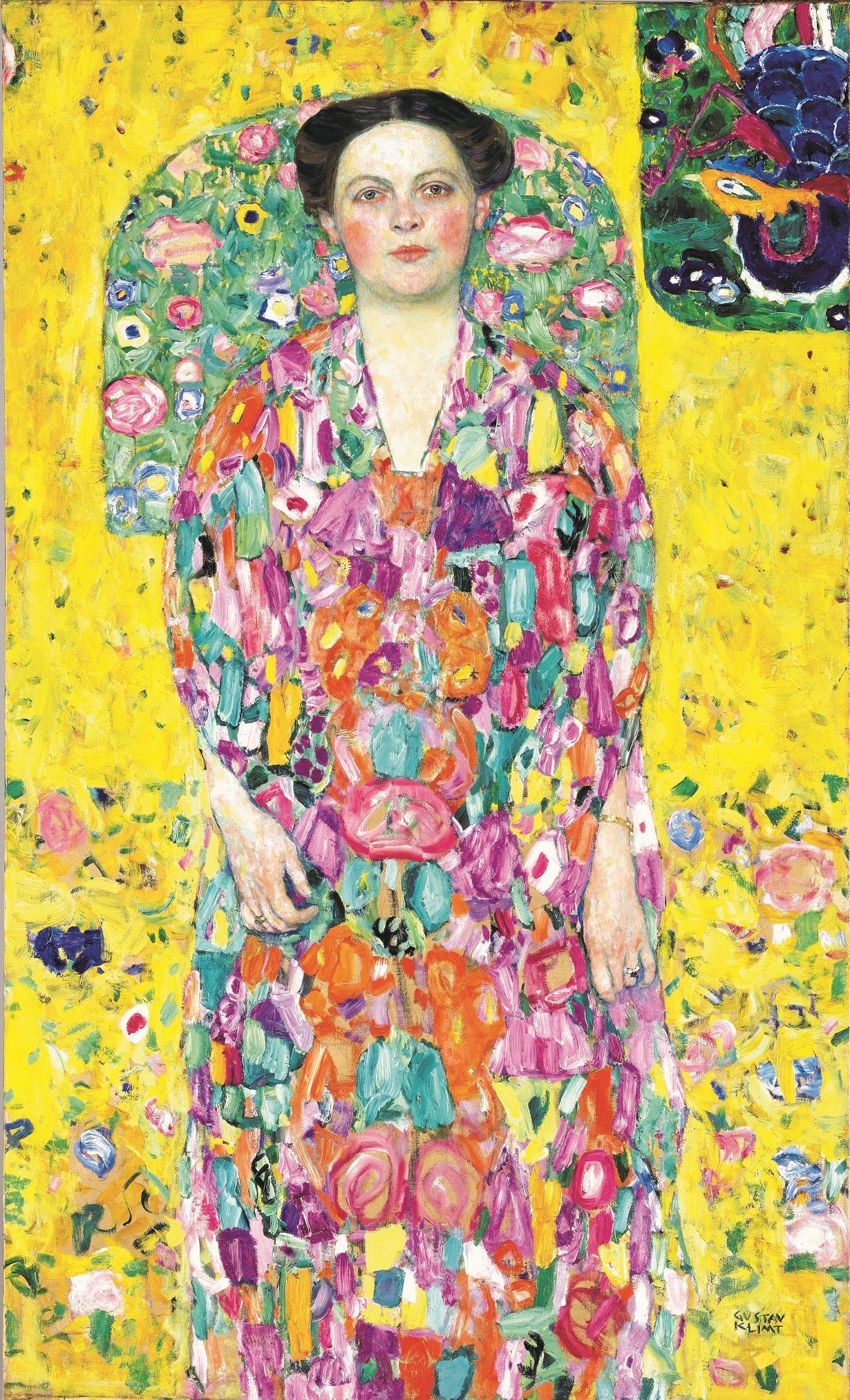 グスタフ・クリムト《オイゲニア・プリマフェージの肖像》 1913/1914年 油彩、カンヴァス 140 x 85 cm 豊田市美術館