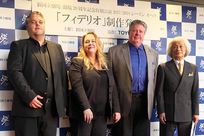 左からダニエル・ウェーバー、カタリーナ・ワーグナー、ステファン・グールド、飯守泰次郎 (c) Naoko Nagasawa