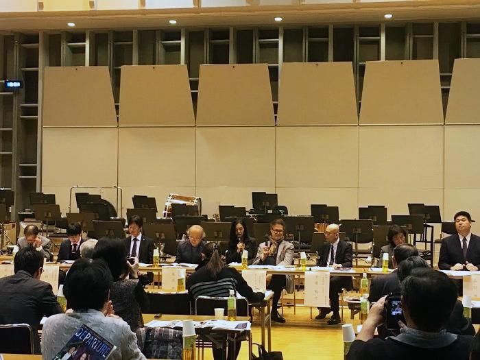 昨年行われた大阪の4つのオーケストラによる合同記者発表会の模様
