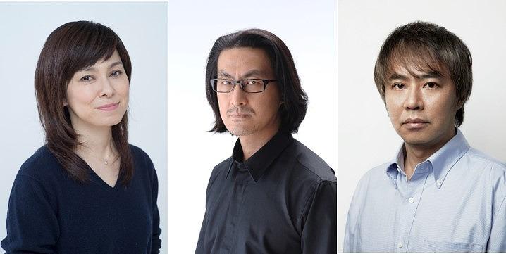 (左から) 高田聖子、粟根まこと、入江雅人