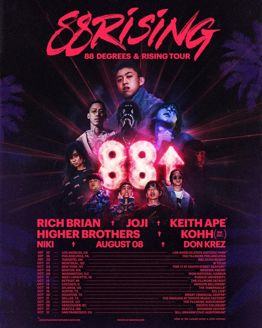 88rising『88 DEGREES & RISING TOUR』