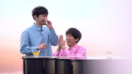 高橋一生に肩を抱かれ、森山直太朗「ドキッとした」 『キリン 生茶』新CMでのピアノセッション&メイキング映像を公開