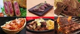 左上からきむらてつ 炙り家 縁、肉の匠 将泰庵、焼肉IWA、efeケバブ、ステーキハウスUS・6、漢方和牛専門店 焼肉くらべこ