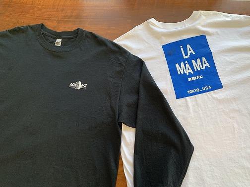 La.mama×MINAMIS Tシャツ 篠原(Dr)がデザイン・手刷り