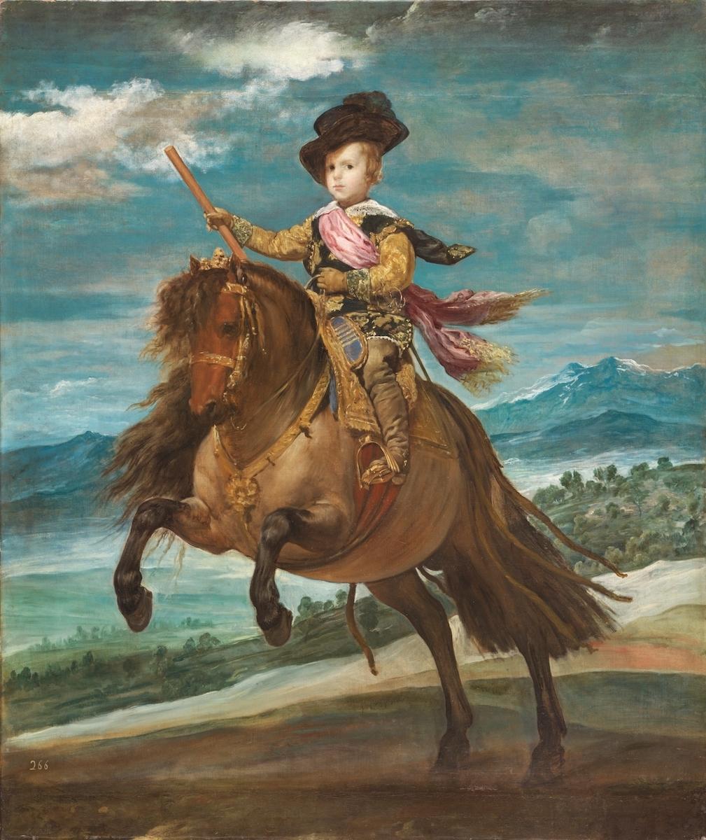 ディエゴ・ベラスケス《王太子バルタサール・カルロス騎馬像》1635年頃 マドリード、プラド美術館蔵 © Museo Nacional del Prado